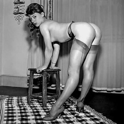 Vintage stockinged feet